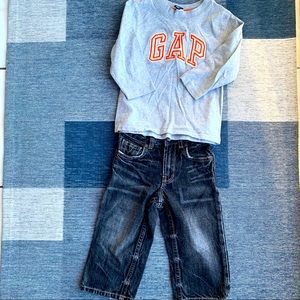 Baby Gap bundle 18-24 months Jeans and Long Tee